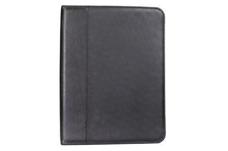 elegant leather black folder for businessman documents.