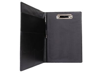 black folder for documents on a white background.