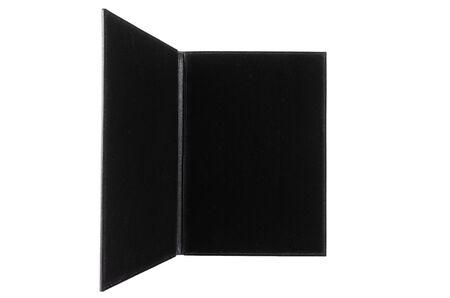 elegant open folder for documents on a white background.