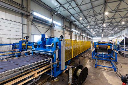Photo pour production without the participation of people, IT technologies in the management of a modern mega-plant. - image libre de droit