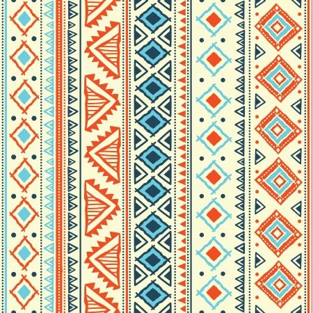 Orange Aqua Tribal Pattern