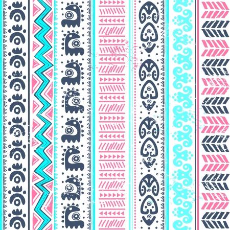 Pink Aqua Tribal Pattern