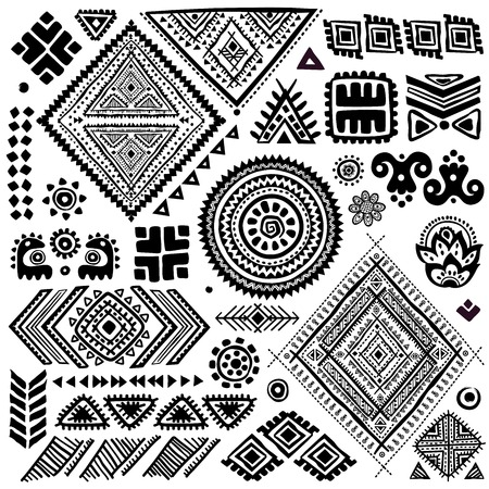 Tribal vintage ethnic pattern set illustration for your businessのイラスト素材