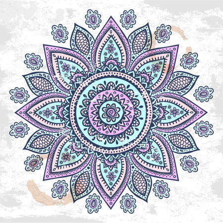 Beautiful vintage Indian floral ornament can be used as a greeting card