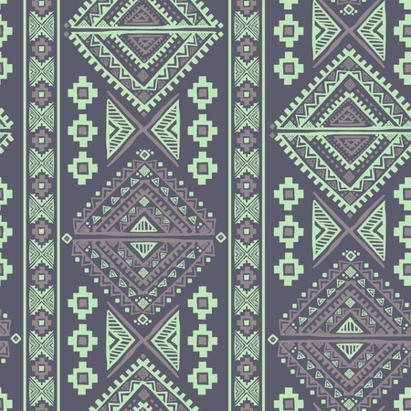Tribal Pattern In Blue Wallpaper