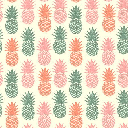 Illustration pour Vintage pineapple seamless - image libre de droit