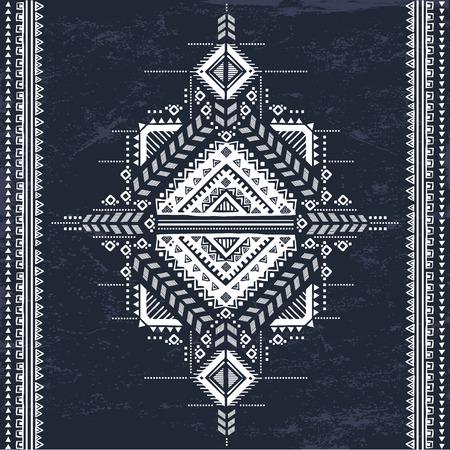 Illustration pour Vector Tribal Mexican vintage ethnic seamless pattern - image libre de droit