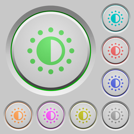 Saturation control color icons on sunk push buttons