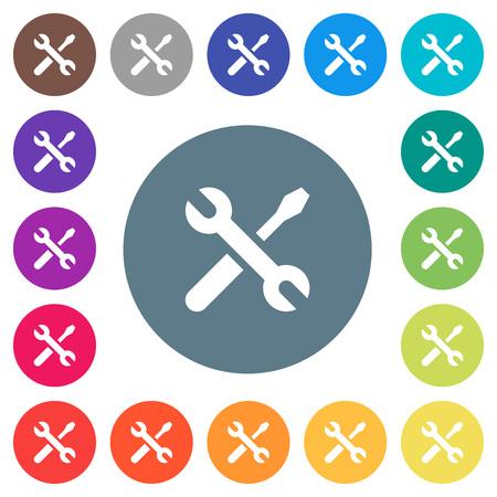 Colorful set of maintenance icons.
