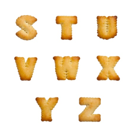 Letters of the British alphabet made of gingerbread