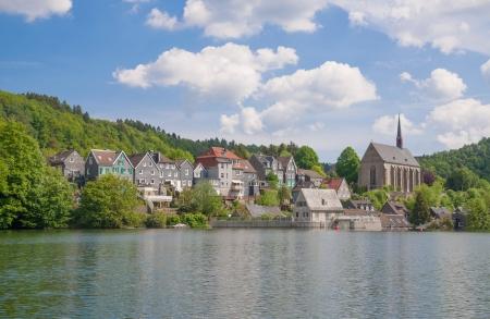 Wupper River Reservoir in Wuppertal-Beyenburg,Bergisches Land,Germany