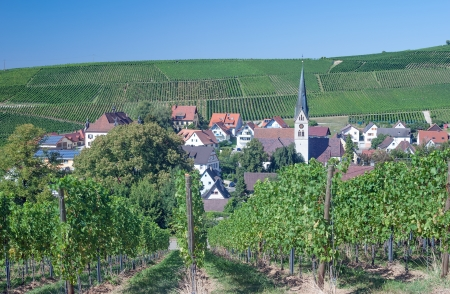 idyllic Village at Baden Wine Route,Black Forest,Germany