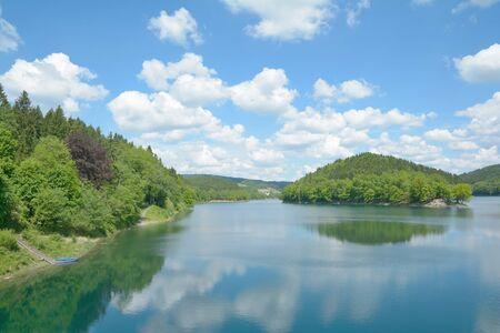 Agger reservoir, Bergisch Land, North Rhine Westphalia, Germany