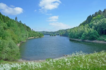 Wupper Reservoir near Remscheid and Wuppertal in Bergisches Land,Germany