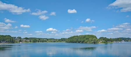 Bevertalsperre Reservoir in Bergisches Land,North Rhine Westphalia,Germany