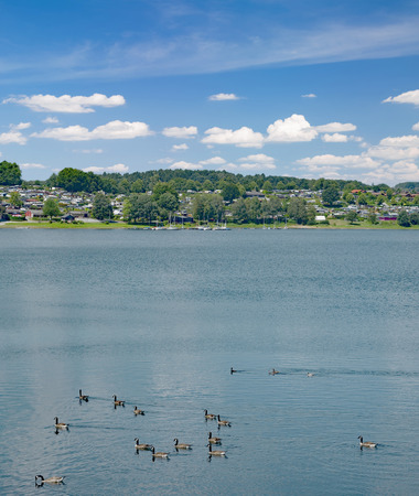 at Bever Reservoir in Bergisches Land,North Rhine westphalia,Germany