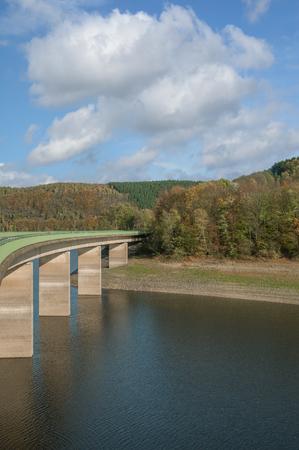 Wuppertalsperre Reservoir in Bergisches Land,North Rhine westphalia,Germany