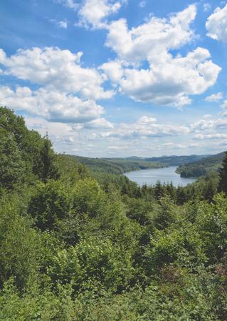 Wiehltalsperre Reservoir in Bergisches Land,North Rhine westphalia,Germany
