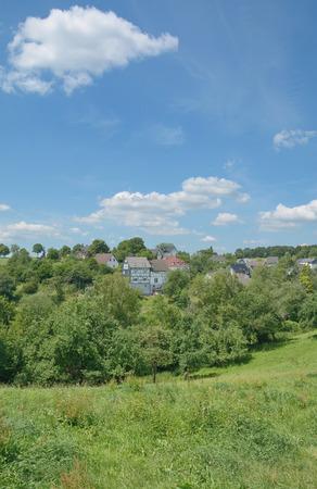 idyllic Village in Bergisches Land near Gummersbach,North Rhine westphalia,Germany