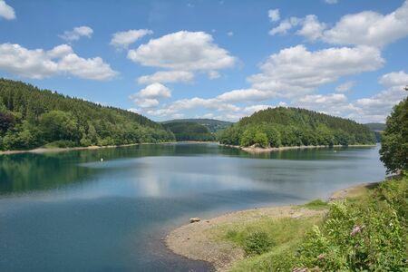 Aggertalsperre Reservoir in Bergisches Land,North Rhine westphalia,Germany