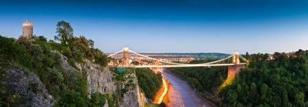 Victorian Clifton Suspension Bridge, Bristol, UK.
