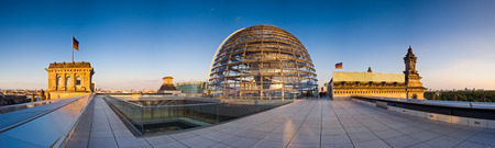 The Reichstag Parliament building Berlin  1884 to 1894  bathed in warm evening sunlight