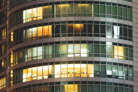 Photo pour Apartment windows at night.  Privacy concept in luxury condo. - image libre de droit