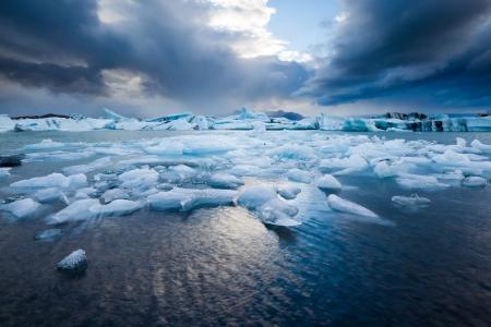 Jökulsárlón - famous glacial lagoon, South Iceland