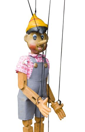 wooden toy puppet marionette string controled pinocchio