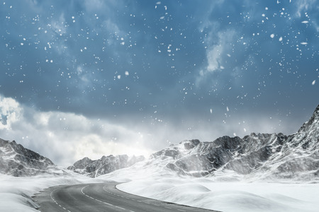 Winter Driving - Winter Road - Computer generated image