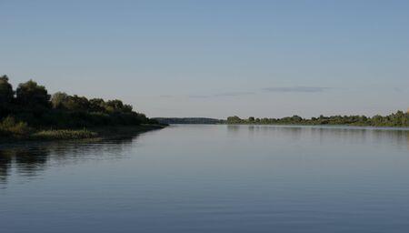Expanses of river. River landscape