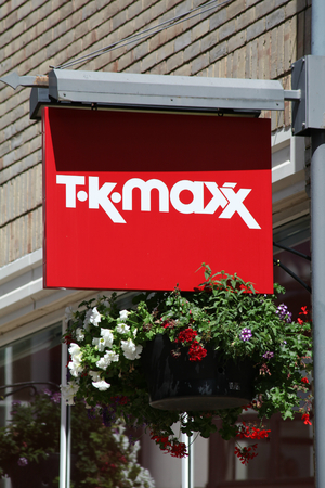 T K Maxx shop sign, Colchester, Essex