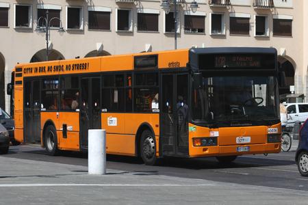 Local single decker commuter bus, Livorno, Italy