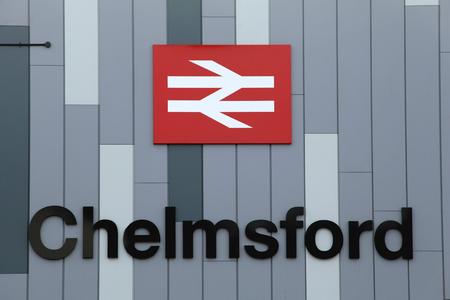 Chelmsford Railway Station sign, Chelmsford, Essex