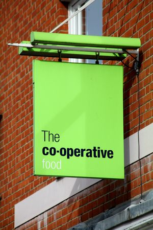 Co-op food shop sign, Chelmsford, Essex