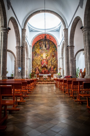 Photo for interior of a christian church in gran canaria island - Royalty Free Image