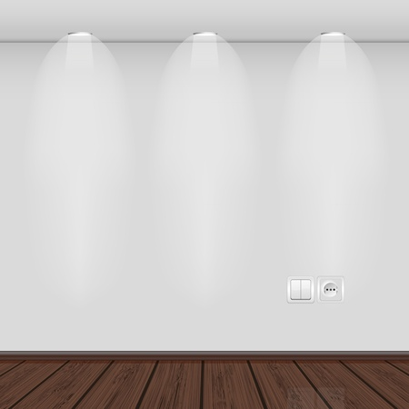 interior with empty wall and parquet.vector illustration. Best choice
