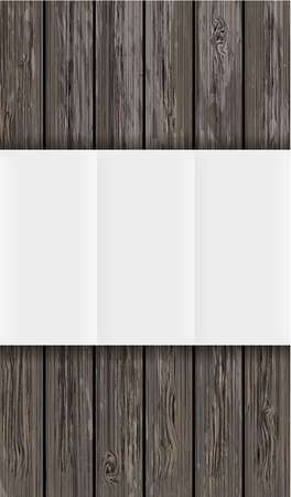 wooden board with paper. Vector background with place for your text