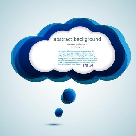 Illustration pour Vector glossy computer cloud. bubble speech. Easy to edit. Eps10 - image libre de droit