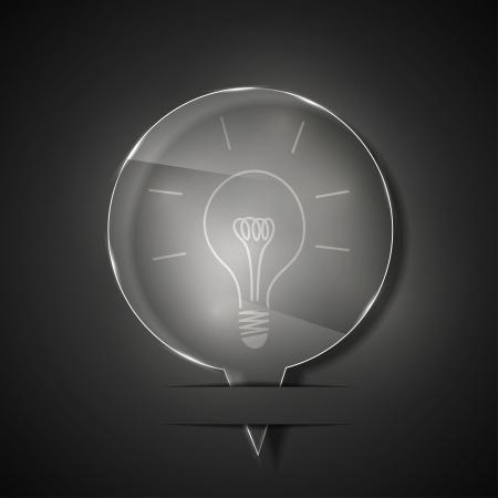 glass idea icon on gray background.