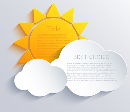 sun with clouds background.
