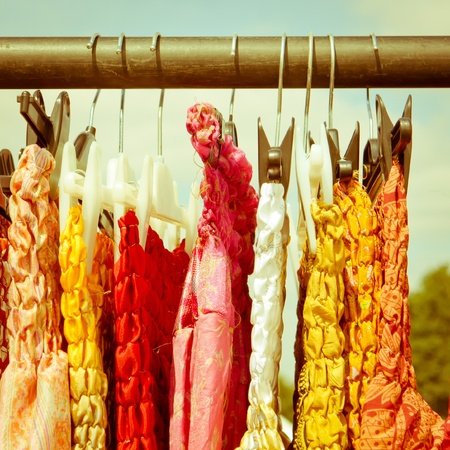 Colorful dresses for sale at and english country market
