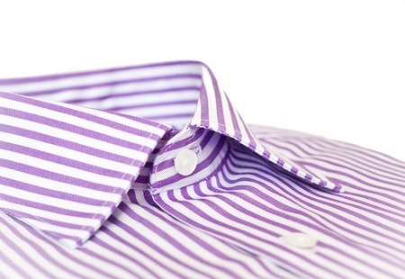 Close up of the collar of a formal man's shirt