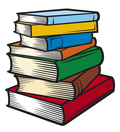 Illustration for Stack of books (books stacked) - Royalty Free Image