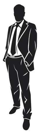 Ilustración de illustration of a businessman (standing businessman) - Imagen libre de derechos