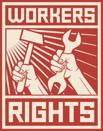 Illustration pour workers rights poster  workers rights design  - image libre de droit