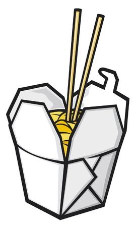 Illustration pour chinese fast food  - image libre de droit