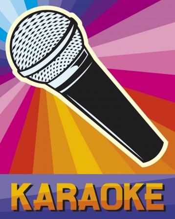Illustrazione per karaoke poster (karaoke design) - Immagini Royalty Free