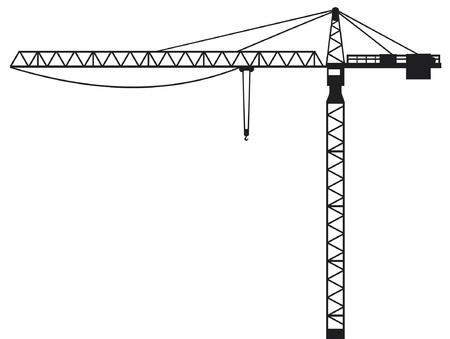 Ilustración de Crane  building crane, tower crane  - Imagen libre de derechos