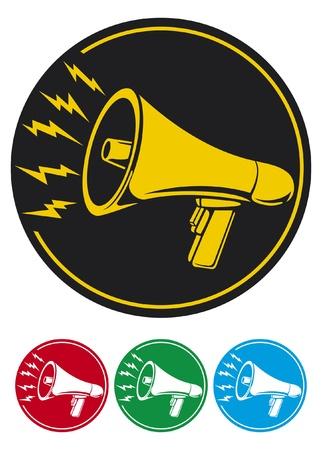 megaphone icon  bullhorn icon, megaphone button, megaphone symbol